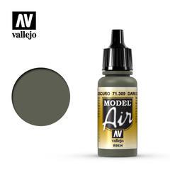Vallejo Model Air - Dark Slate Grey - VAL71309 - 17ml