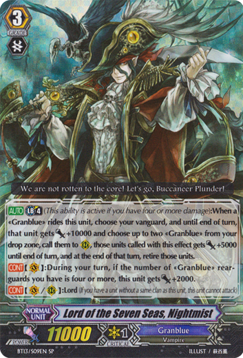 Lord of the Seven Seas, Nightmist - BT13/S09EN - SP