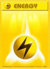 Lightning Energy - 100/102 - Common - Shadowless Edition