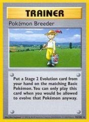 Pokemon Breeder - 76/102 - Rare - Shadowless Edition
