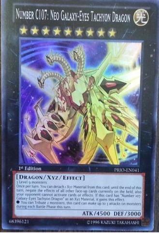 Number C107: Neo Galaxy-Eyes Tachyon Dragon - PRIO-EN041 - Super Rare - 1st Edition