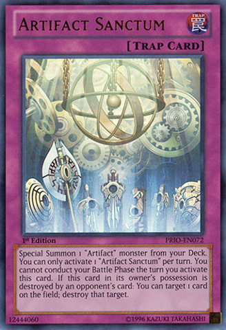 Artifact Sanctum - PRIO-EN072 - Ultra Rare - 1st Edition