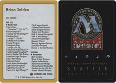Decklist - Brian Selden - 1998