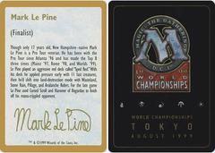 Biography - Mark Le Pine - 1999