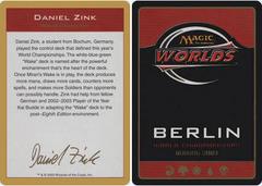 Biography - Daniel Zink - 2003
