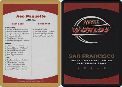 Decklist - Aeo Paquette - 2004