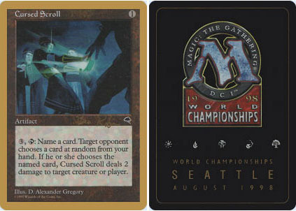 Tempest Played 1x English -BFG- MTG Magic Cursed Scroll x1