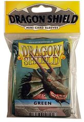 Dragon Shield Mini Card Sleeves (50 ct) - Green