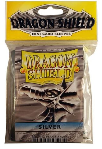 Dragon Shield Mini Card Sleeves (50 ct) - Silver