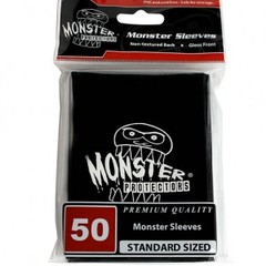 Monster Gloss Logo Sleeves (50ct) - Black