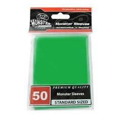 Monster Gloss Sleeves (50ct) - Green