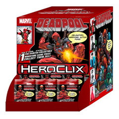 Marvel HeroClix: Deadpool Gravity Feed Display (24 Foil Packaged Singles)
