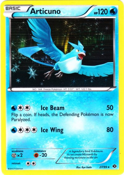 Articuno - 27/99 - Cosmos Holo Black & White Two Pack Blister Exclusive