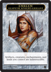 Emblem Elspeth, Knight-Errant // Soldier Token on Channel Fireball
