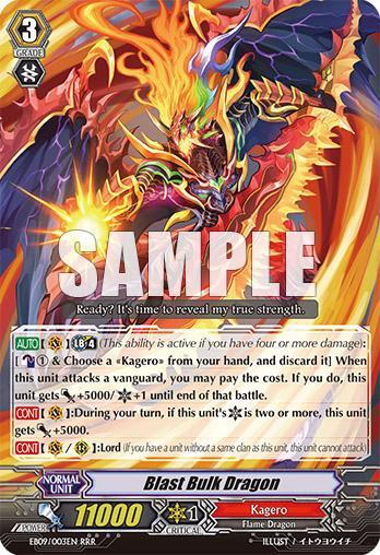 Vanguard English EB09//003EN RRR Blast Bulk Dragon