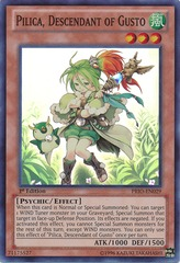 Pilica Descendant of Gusto - PRIO-EN029 - Super Rare - Unlimited Edition