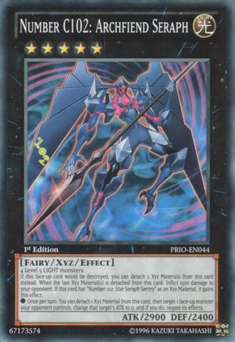 Number C102: Archfiend Seraph - PRIO-EN044 - Super Rare - Unlimited Edition