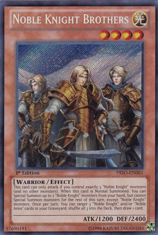 Noble Knight Brothers - PRIO-EN081 - Secret Rare - Unlimited Edition