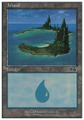 Island (Urza's Saga/Trees on Right)