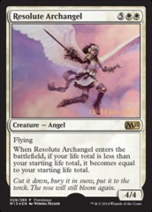 Resolute Archangel - Foil - Prerelease Promo