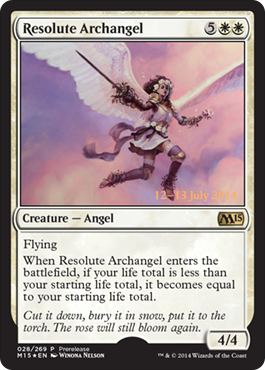 Resolute Archangel - Foil - Prerelease Promo