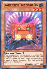 Construction Train Signal Red - DRLG-EN038 - Super Rare - Unlimited Edition
