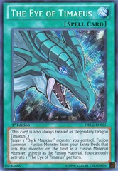 The Eye of Timaeus - DRLG-EN005 - Secret Rare - Unlimited Edition