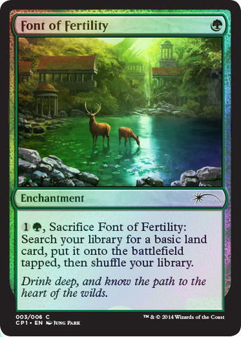 Font of Fertility (Magic 2015 Clash Pack Promo)