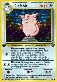 Clefable - 1/64 - Holo Rare - 1999-2000 Wizards Base Set Copyright Edition