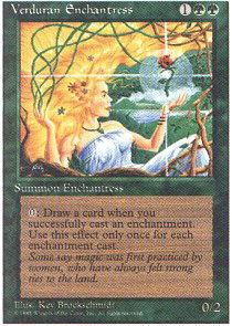 Losse kaarten Revised NM Magic Regular 1x Verduran Enchantress MTG 3rd Edition