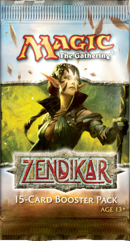 3x Zendikar Booster Packs (Draft Set)