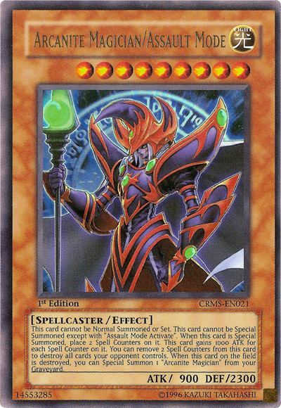 Arcanite Magician/Assault Mode - CRMS-EN021 - Ultra Rare - 1st Edition