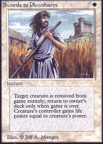 Swords to Plowshares (Not Tournament Legal)