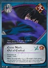 Curse Mark Out of Control - M-071 - Rare - 1st Edition