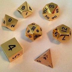 Gold Set of 7 Die