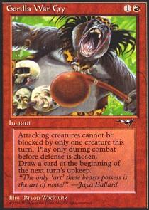 Gorilla War Cry [Playing Drums]