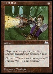 Null Rod on Channel Fireball