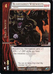Bloodthirsty Werewolves, Army