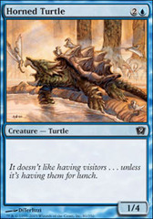 Horned Turtle on Channel Fireball