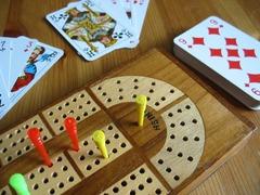Cribbage Board 4-Track Solid Wood