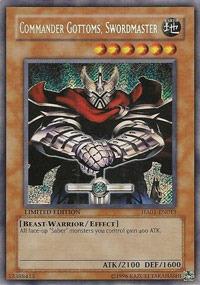 Commander Gottoms - Swordmaster - HA01-EN013 - Secret Rare - Limited