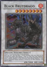 Black Brutdrago - SOVR-EN043 - Super Rare - 1st Edition