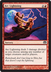 Arc Lightning on Channel Fireball