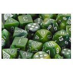 Phantom Green / White 7 Dice set - CHX27485