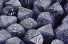 Black / Silver Phantom 7 Dice set - CHX27488