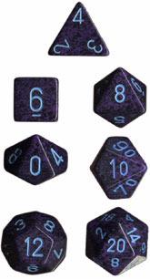 Speckled 7 Dice set (CHX25307) - Cobalt