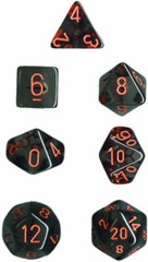 Translucent Smoke / Red 7 Dice Set - CHX23088