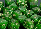 Vortex Green / Gold 7 Dice Set - CHX27435