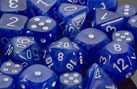 Vortex Wispy Blue / White 7 Dice Set - CHXLE642