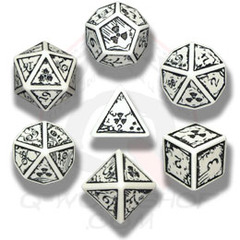 White & Black Nuke 7 Dice set